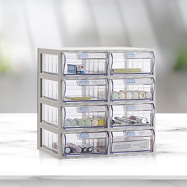 다용도 소품 수납함 /화장품 정리함 투명서랍 선반 상품이미지