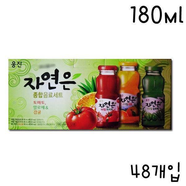 CR/2/웅진 자연은 종합음료세트(180mlX48병)-1박스/선 상품이미지