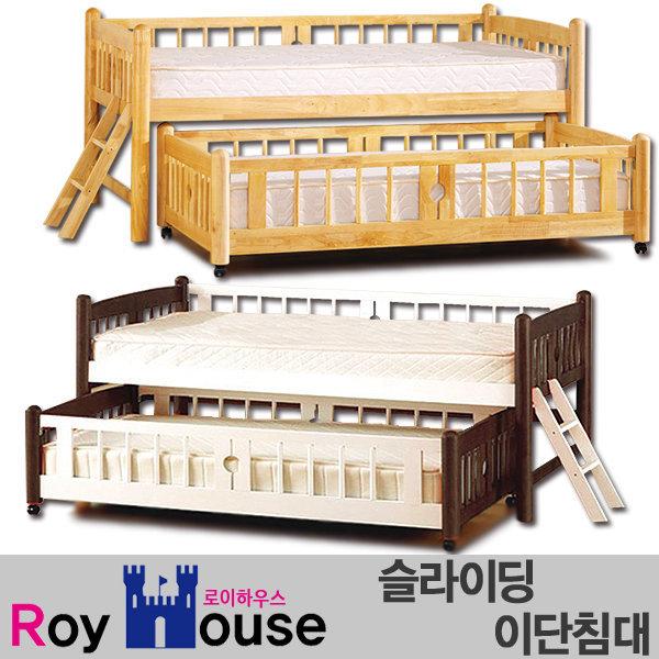 원목 슬라이딩 이단침대/2층침대/이층침대/벙커/매트 상품이미지