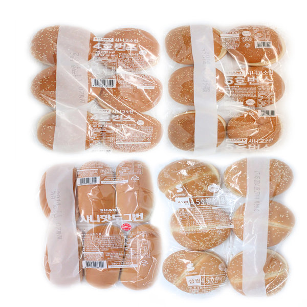 삼립/ 햄버거 식자재/4.5호/5호/4호/깨/핫도그/빵 상품이미지