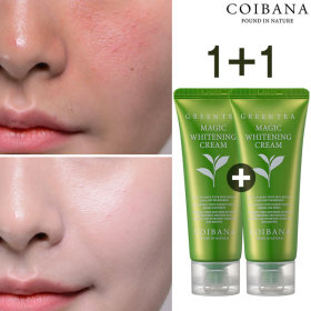 1+1 green tea whitening cream/tone up cream/sun cream
