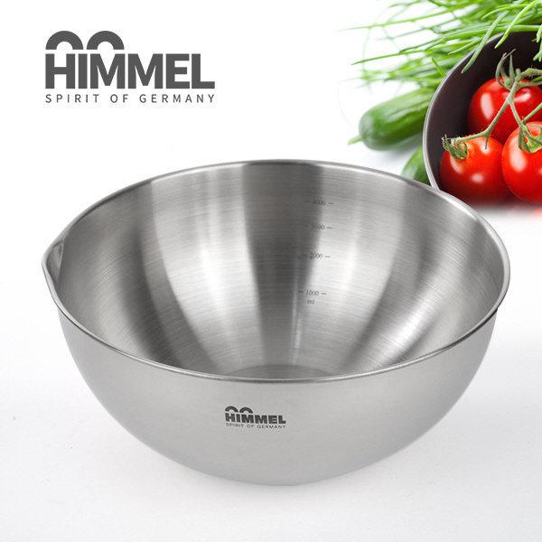 HIMMEL 힘멜 대형믹싱볼28cm/스텐레스/눈금 비빔그릇 상품이미지