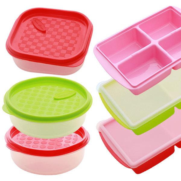 실리콘 밥보관용기-전자레인지용그릇/밥보관/양념통 상품이미지