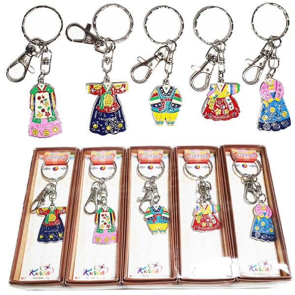 한국전통민속기념품 캐릭터 열쇠고리(5개)/외국인선물 상품이미지