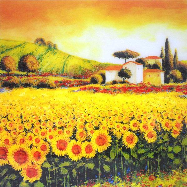 돈들어오는 해바라기 그림 풍수 소형 액자 꽃그림 상품이미지