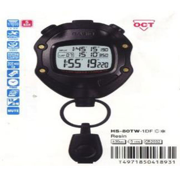 CASIO 카시오 초시계/스톱워치 HS-80TW-1DF 상품이미지