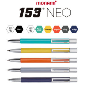 [monami] Ballpoint pen / oil based ink / 0.7mm tip / clip / 153 Neo /