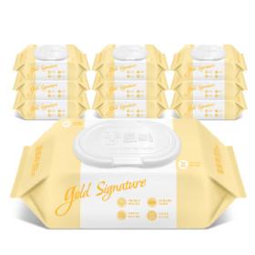 꿈토리 아기물티슈 골드 캡형 10팩 65gsm + 휴대4팩