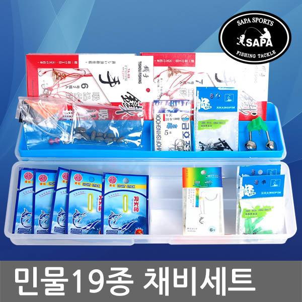 싸파 싸파 민물낚시 19종 채비세트(태클박스포함)/19 상품이미지