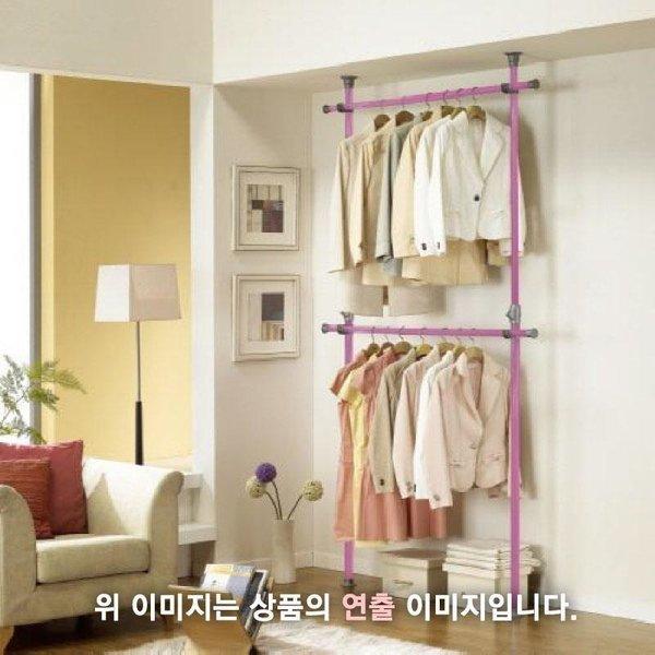 로즈하우스 시스템행거 핑크2단 상품이미지