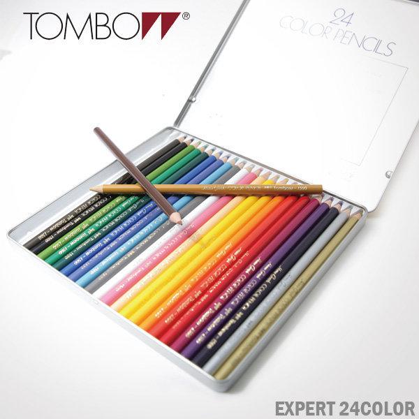 톰보 24색 유성 색연필 틴케이스/전문가용/정품/빠른 상품이미지