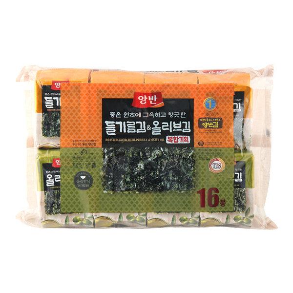 (1+1)동원 올리브유김+들기름김 5gx16봉 상품이미지