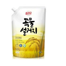(1+1)친환경 애경_트리오곡물쌀겨주방세제리필_1.2L