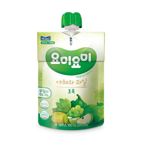 (1+1)GD 매일유업 요미요미초록야채와과일 100MLx2 상품이미지