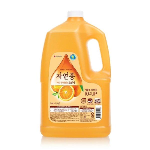 친환경 LG생활건강 자연퐁오렌지주방세제대용량 3.04L 상품이미지