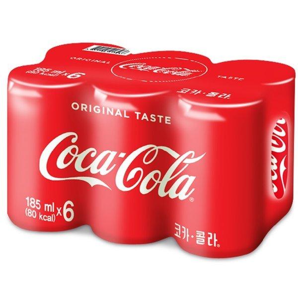 (전단상품)코카콜라 코카콜라캔 185MLx6 상품이미지
