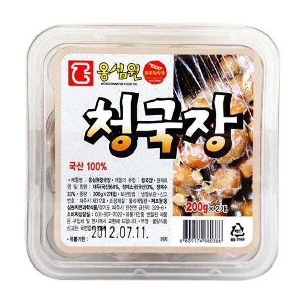 옹심원 재래식청국장 400g 국산 상품이미지