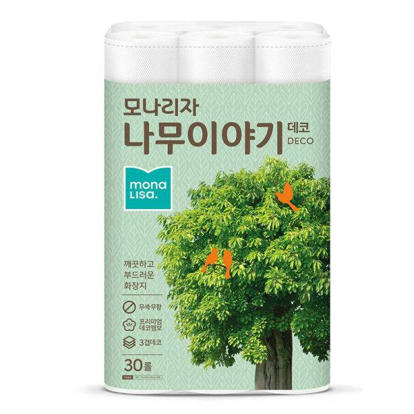 (1+1)모나리자 나무이야기데코화장지 3겹  27Mx30R 상품이미지