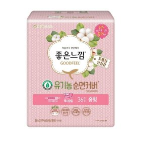 (2+1)(생리대)유한킴벌리_좋은느낌유기농순면맥시슬림날개_중형36매