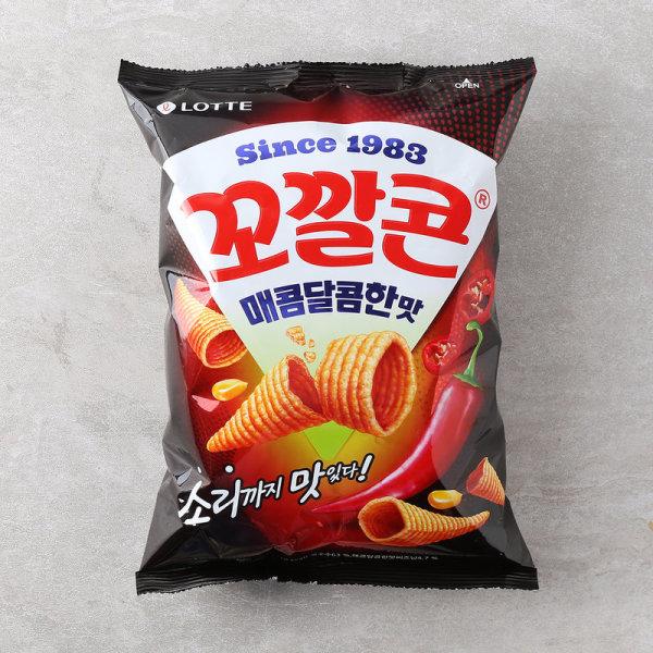 (1+1)롯데 꼬깔콘매콤달콤맛 144G 상품이미지
