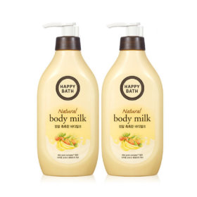 HAPPY BATH Real Moist Body Milk 450ML X2pcs