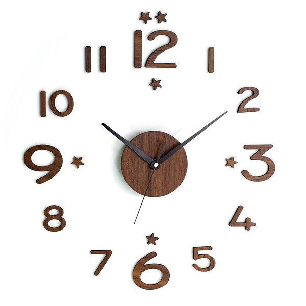DIY 벽시계 붙이는벽시계 인테리어시계 시크 우드시트 상품이미지