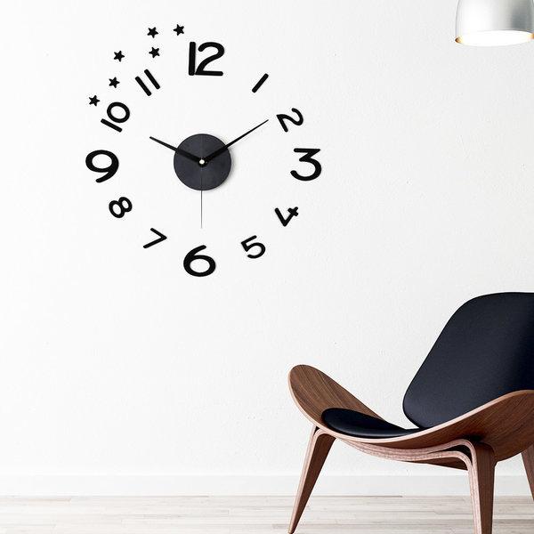 인테리어시계 DIY벽시계 집들이선물 무소음 시크블랙 상품이미지