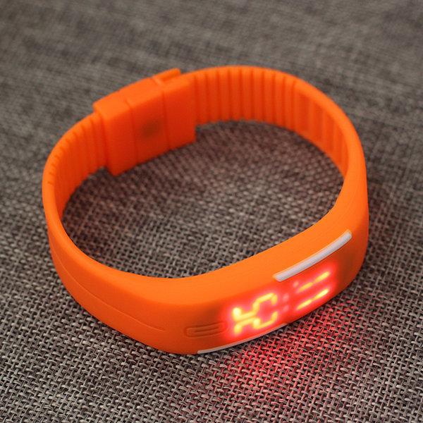 실리콘 LED 밴드 시계/ 슬림 스포츠 패션 시계 사은품 상품이미지