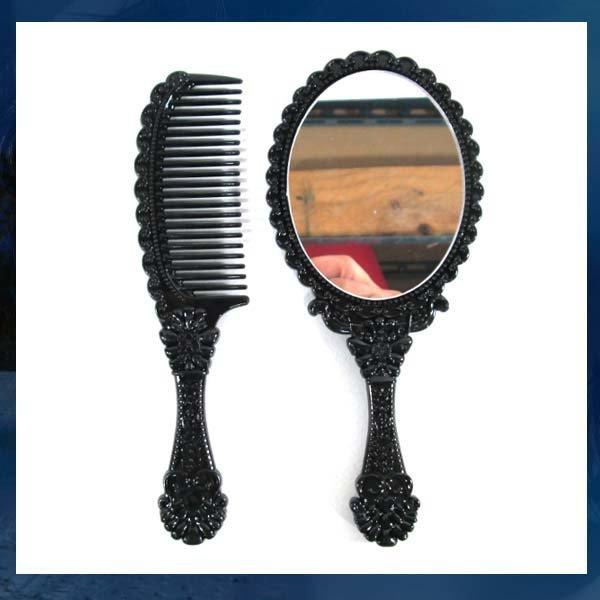 D088/빗거울세트/머리빗/손거울/예쁜손거울/화장거울 상품이미지