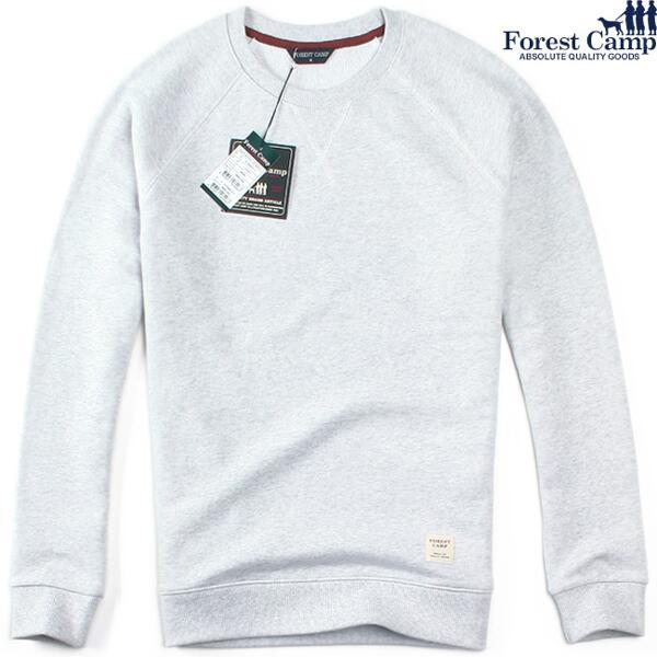 (현대Hmall) FOREST CAMP Crewneck Sweatshirt/나그랑 맨투맨 FCRM5311-Light Grey 상품이미지