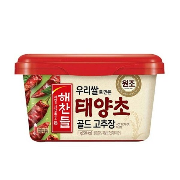 CJ 해찬들우리쌀로만든태양초골드고추장 1KG 상품이미지