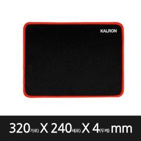 칼론 OKP-G40 마우스패드 미끄럼방지 게이밍패드 레드