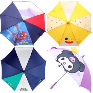 주니어 아동 우산 장화 유아 초등학생 3단 투명 우산