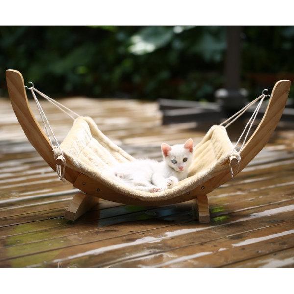 고양이 캣 애견 해먹 캣타워 하우스 침대 방석 용품 상품이미지
