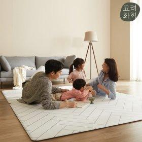 ECO PVC 거실/놀이방매트 모던헤링본 170x140x1.2cm