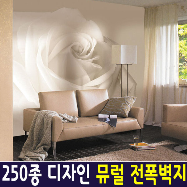 신한 뮤럴아트 로즈/ 뮤럴벽지 포인트벽지 실크벽지 상품이미지