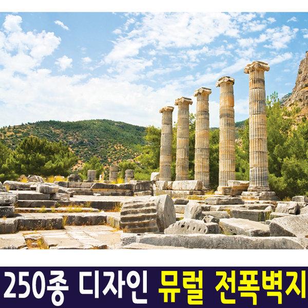 신한 뮤럴아트 신전/ 뮤럴벽지 포인트벽지 실크벽지 상품이미지