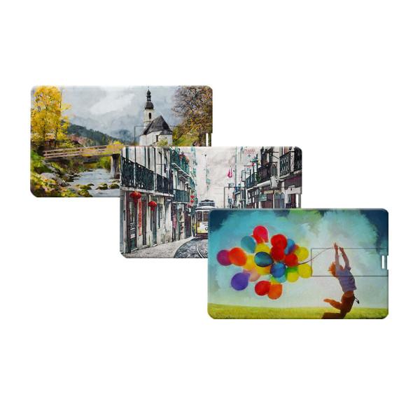 카드형 USB메모리 8GB 16GB 32GB 64GB 사진+로고 인쇄 상품이미지