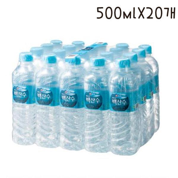 KC/농심 백산수(500mlX20병)/생수/물 상품이미지