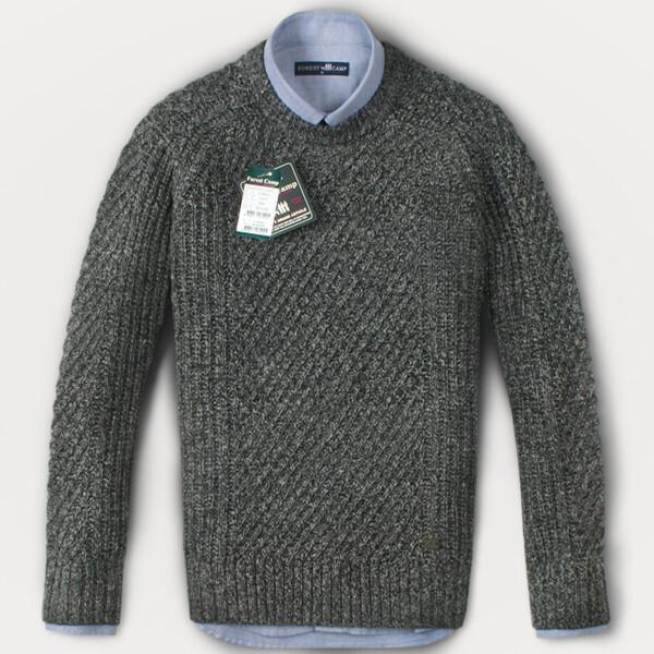 (현대Hmall) FOREST CAMP Lambswool Sweater/조직 변형 스웨터 FCSW5411-Grey 상품이미지