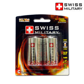 스위스 밀리터리 알카라인 C형 C건전지/LR14 1.5V 2알