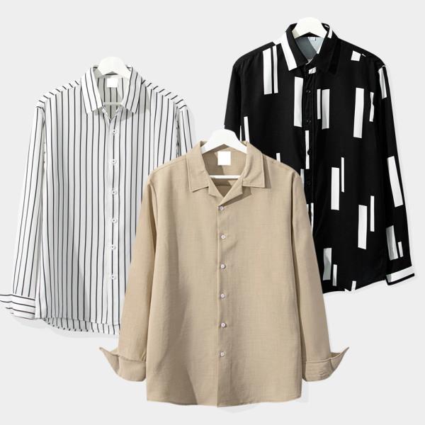 신상셔츠/긴팔셔츠/캐주얼/체크/빅사이즈/남성/베이직 상품이미지
