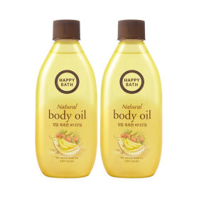 HAPPY BATH Real Moisture Body Oil 250ml X 2pcs