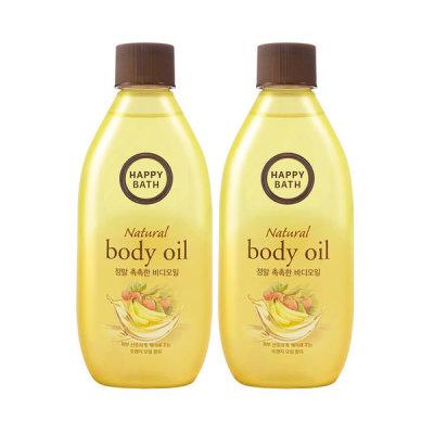 HAPPY BATH Real Moisture Body Oil 250ml X2