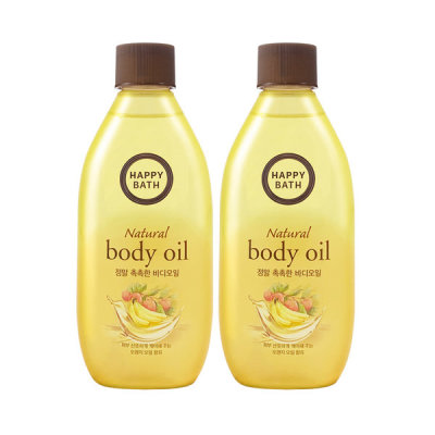 HAPPY BATH Real Moisture Body Oil 250ml X 2pcs