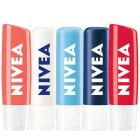 [NIVEA] Lip balm collection / creates moisture barrier / scented / colored / nourishing /