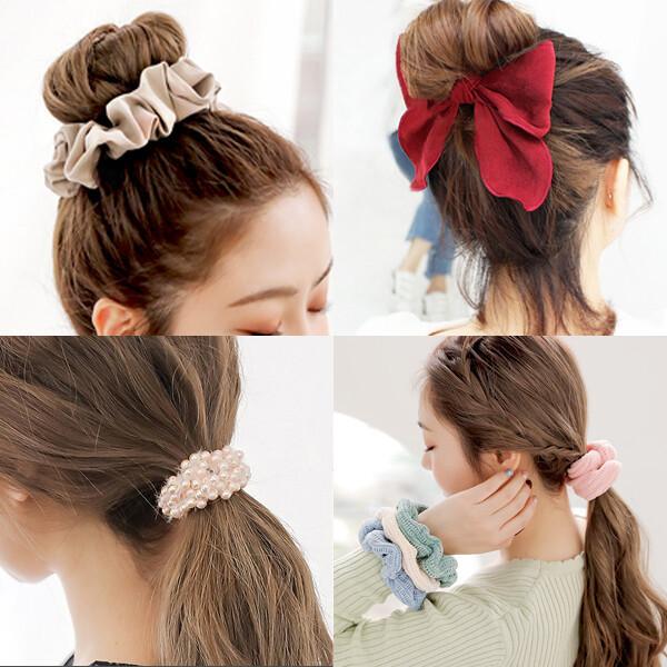 머리끈/밍크머리끈/머리방울/기본 고무줄/곱창밴드 상품이미지