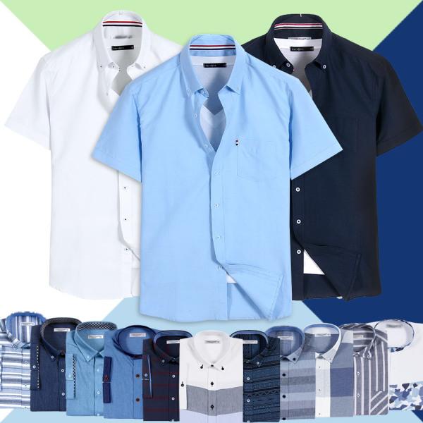 와이셔츠빅사이즈스판슬림긴팔반팔남자남성남방셔츠 상품이미지