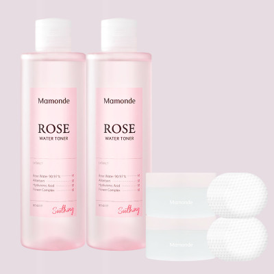 Rose water 250ml x 2pcs +flower toner 5-item kit (25mlX5)