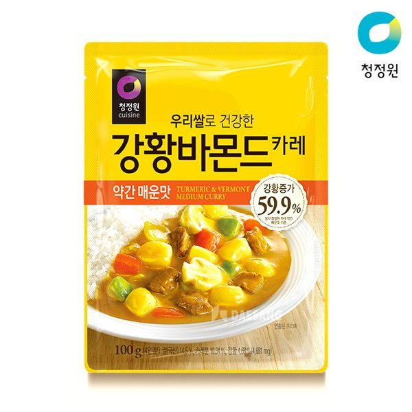 우리쌀 강황바몬드 카레_약간매운맛 100g 상품이미지